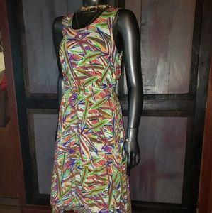 Derek heart tropical asymmetrical high low dress